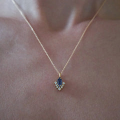Poison Ivy Iolite Necklace