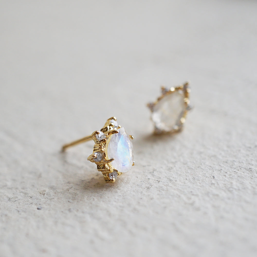 Moonstone Crush Studs - Tippy Taste Jewelry