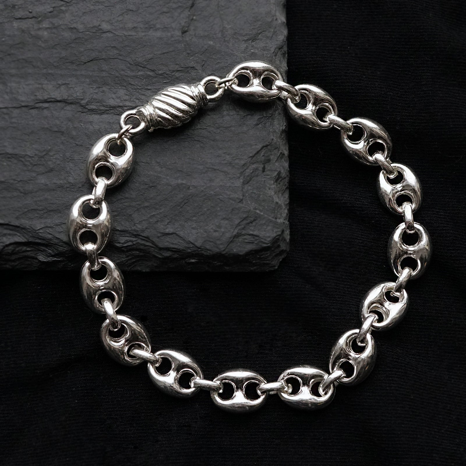 Puffed Anchor Bracelet