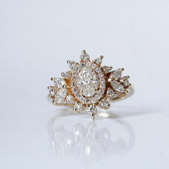 coco oval diamond ring