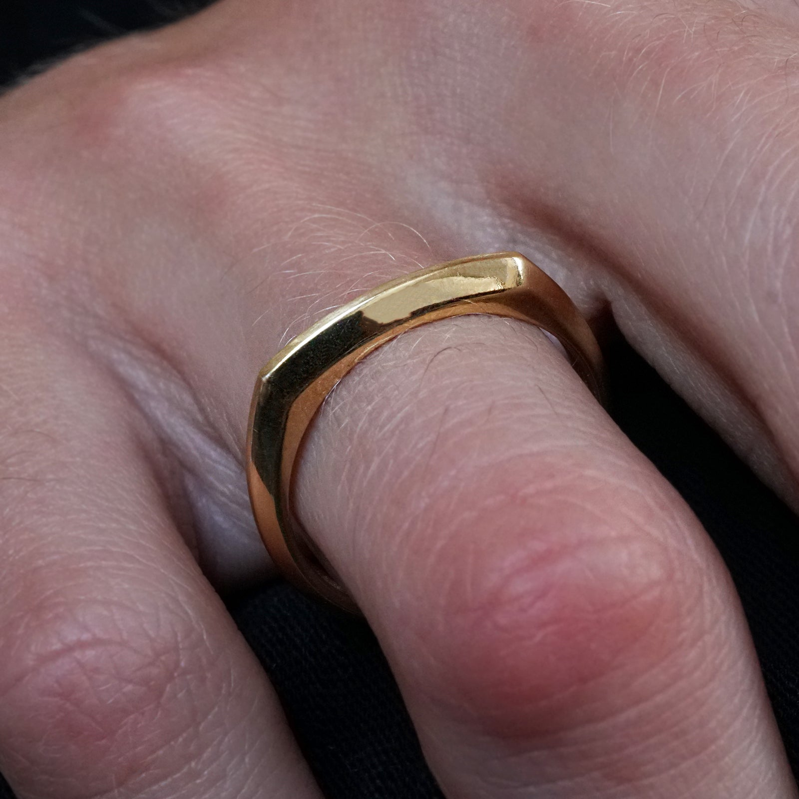 14K Faceted Ring Band, 3mm