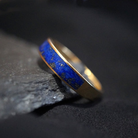 14K Lapis Lazuli Ring Band - Tippy Taste Jewelry
