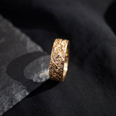 Meteoroid Ring Band, 7.2mm - Tippy Taste Jewelry