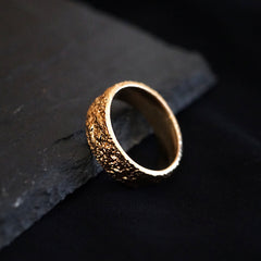 14K Dust Ring Band - Tippy Taste Jewelry