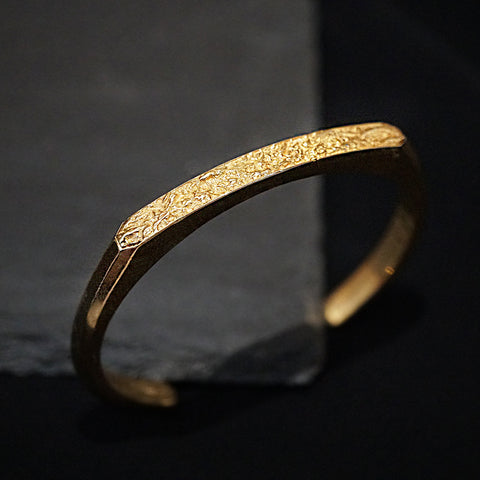 14K Narrow Cuff - Tippy Taste Jewelry