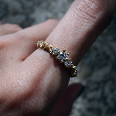 14K Lacey Diamond Ring - Tippy Taste Jewelry