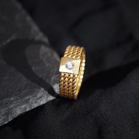 14K Braid Ring Band