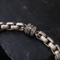 Double Box Chain Bracelet In Silver - Tippy Taste Jewelry