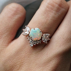 Opal Butterfly Diamond Ring - Tippy Taste Jewelry