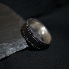 Black Silver Twisted Ring - Tippy Taste Jewelry