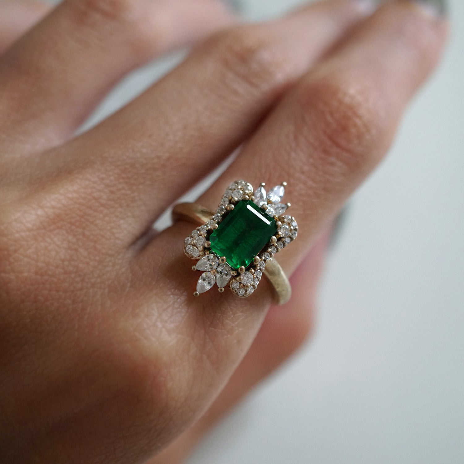 Eleanor Emerald Diamond Ring