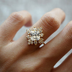 Victorian Cluster Diamond Ring, 1.24ct