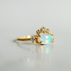 Opal Daphne Diamond Ring