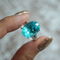 Limited Edition: Oval Tourmaline Paraiba Ring, 8.92ct
