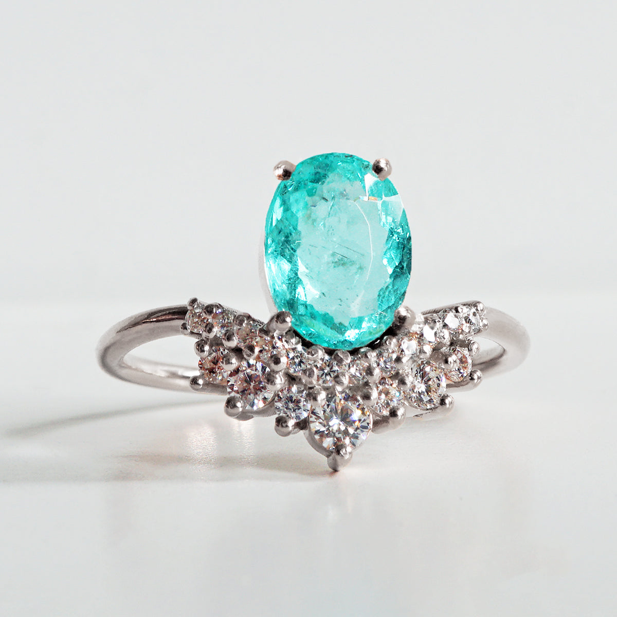 Limited Edition: Arctic Paraiba Tourmaline Diamond Ring