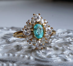 Limited Edition: Duchess Paraiba Tourmaline Diamond Ring