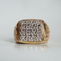 godfather signet diamond ring