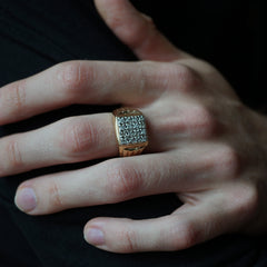 Limited Edition: Godfather Diamond Signet Ring, 14mm