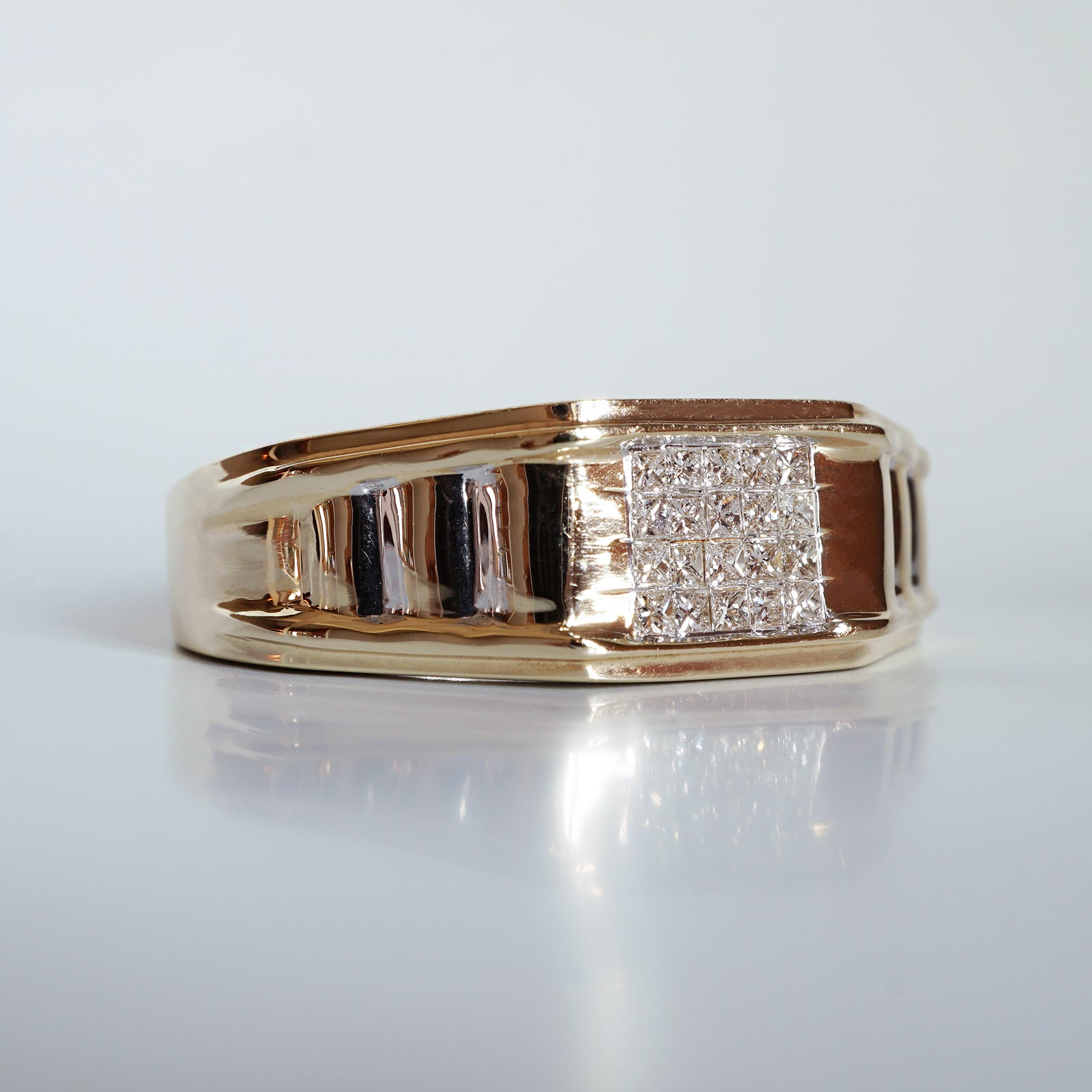 Limited Edition: Cleo Diamond Signet Ring, 8.4mm