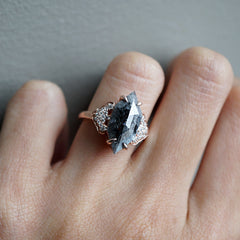 One Of A Kind: Salt & Pepper Frozen Diamond Ring, 1.32ct