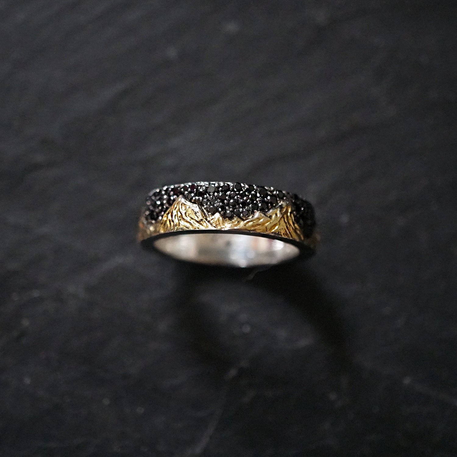 Mixed Metal Montona Black Diamond Ring