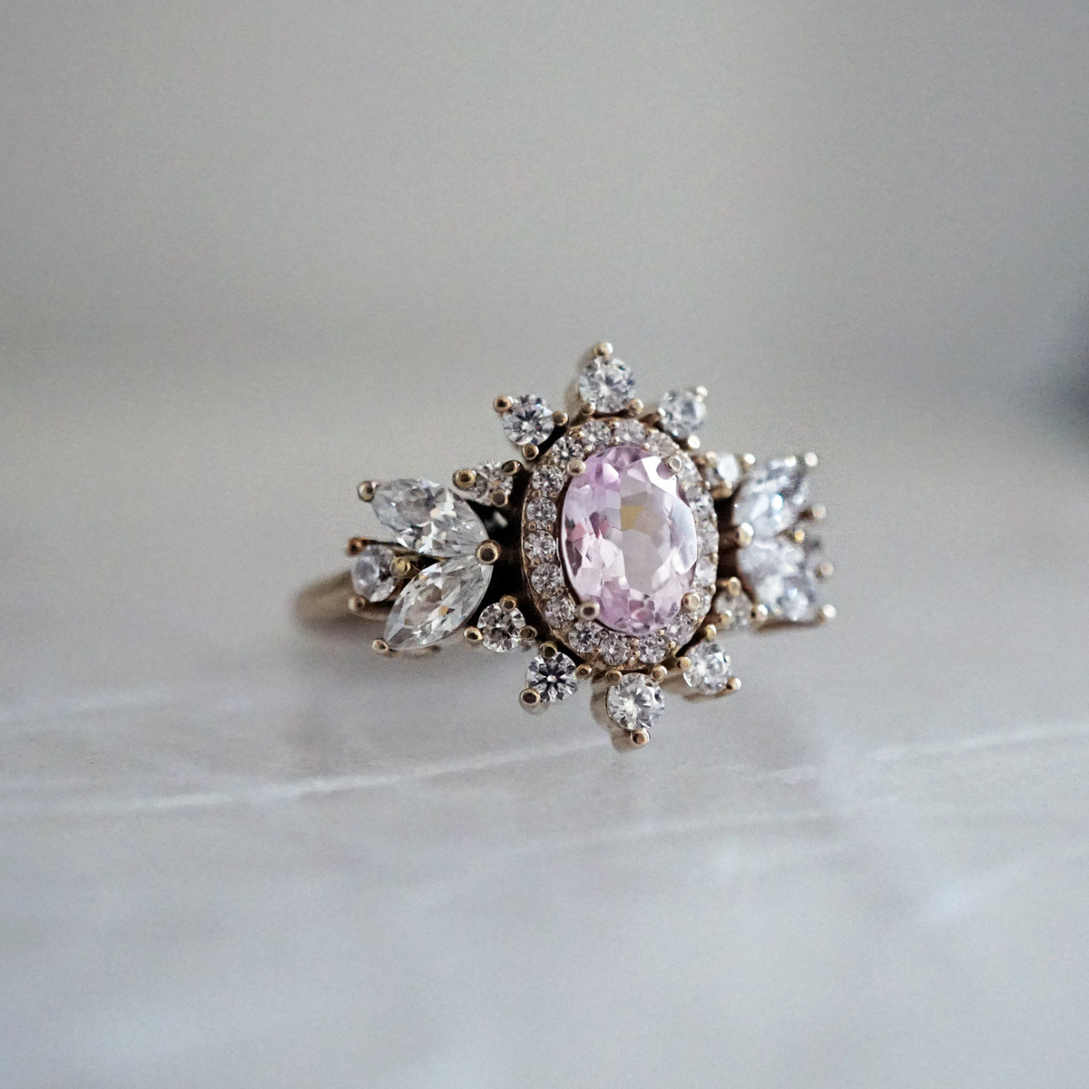 Coco Morganite Diamond Ring - Tippy Taste Jewelry