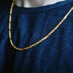 One Of A Kind: 22K Yellow Gold Curb Chain, 24""