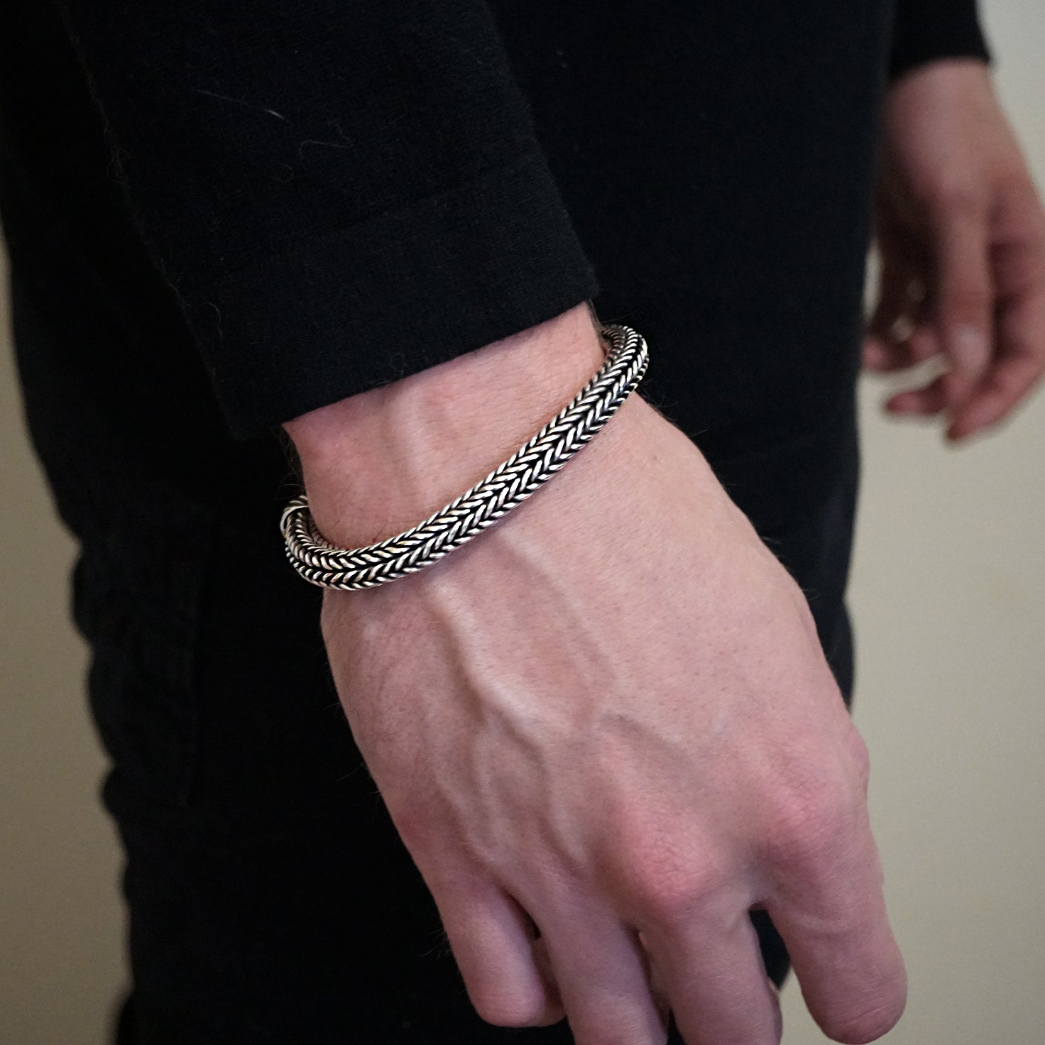 Woven Chain Bracelet in Silver - Tippy Taste Jewelry
