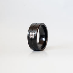 Diamond Cigar Ring, 10mm