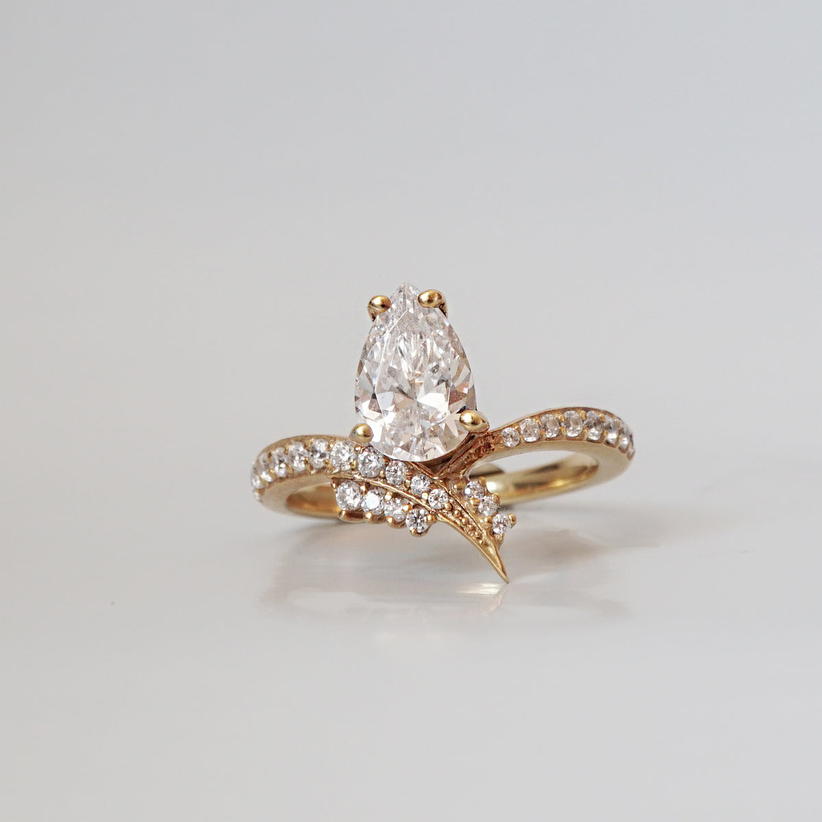 Manhattan Diamond Pear Ring - Tippy Taste Jewelry