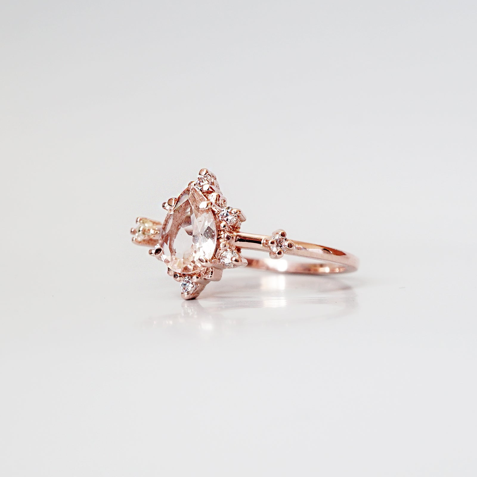 Morganite Crush Ring - Tippy Taste Jewelry