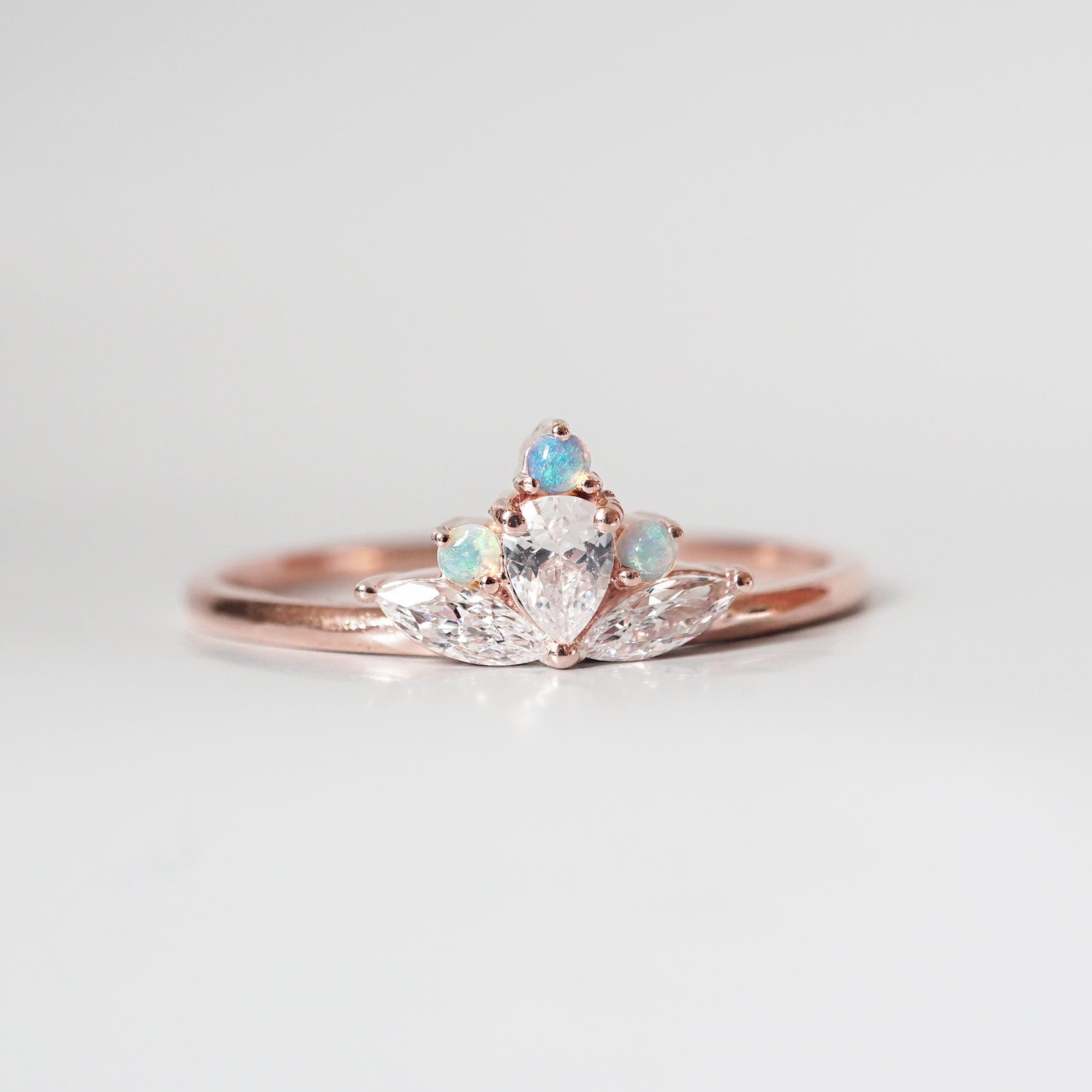 Lotus Opal Ring - Tippy Taste Jewelry