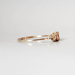 14K Tiara Diamond Ring