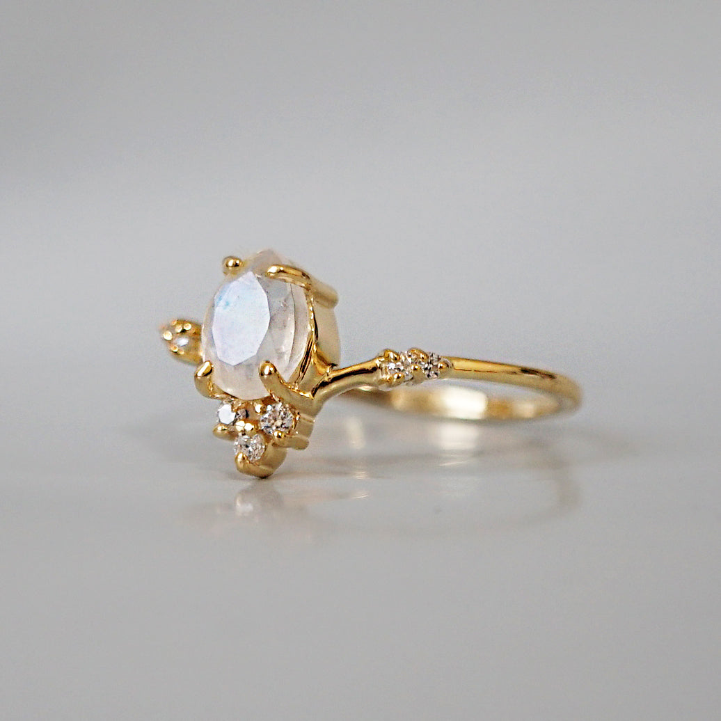 Moonstone Blossom Ring - Tippy Taste Jewelry