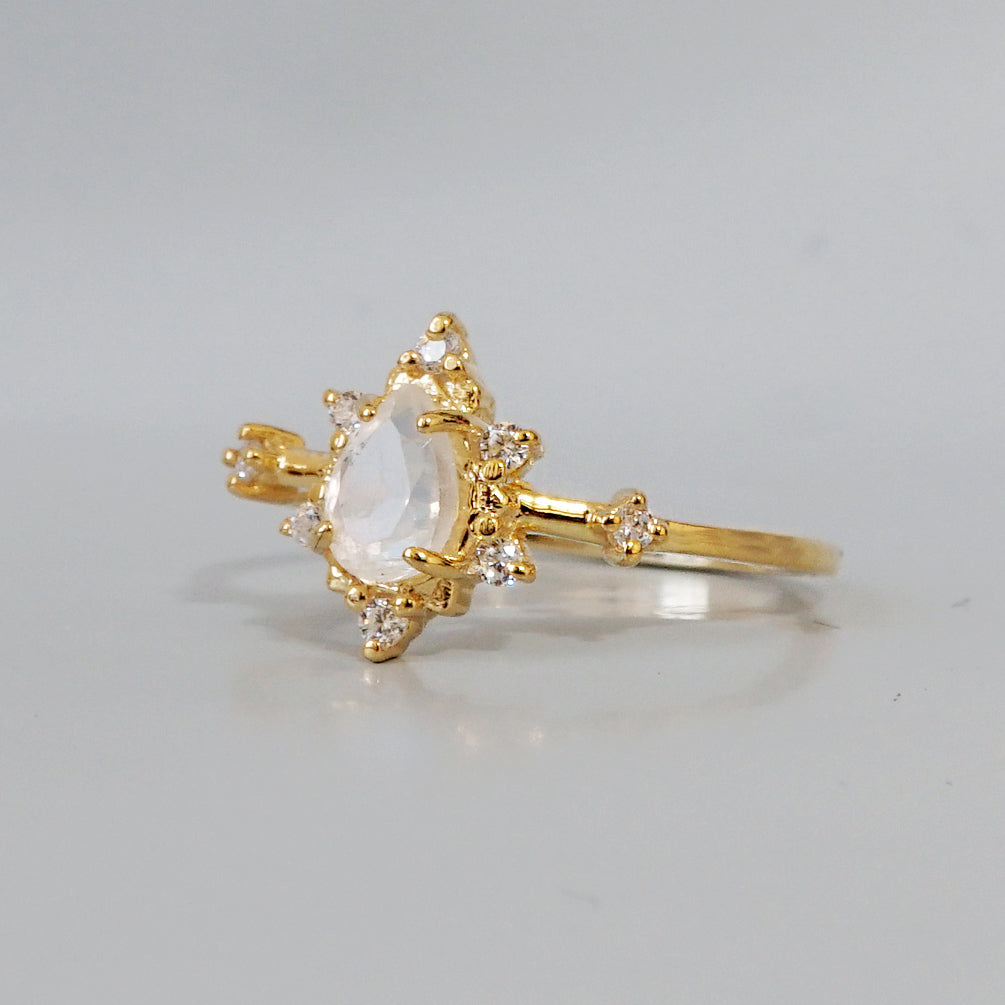 Moonstone Crush Ring - Tippy Taste Jewelry