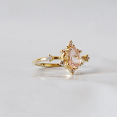 Morganite Crush Ring