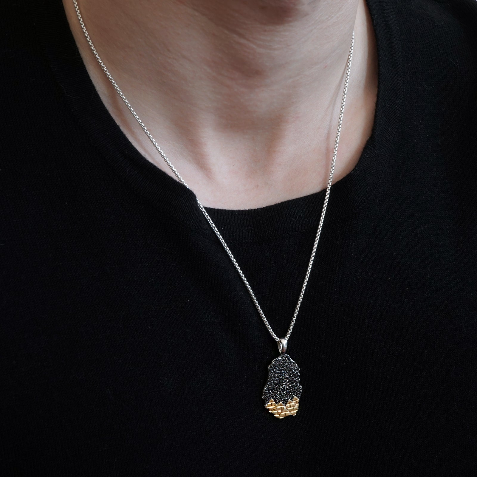 Mixed Metal Montona Night Sky Pendant (Unisex)