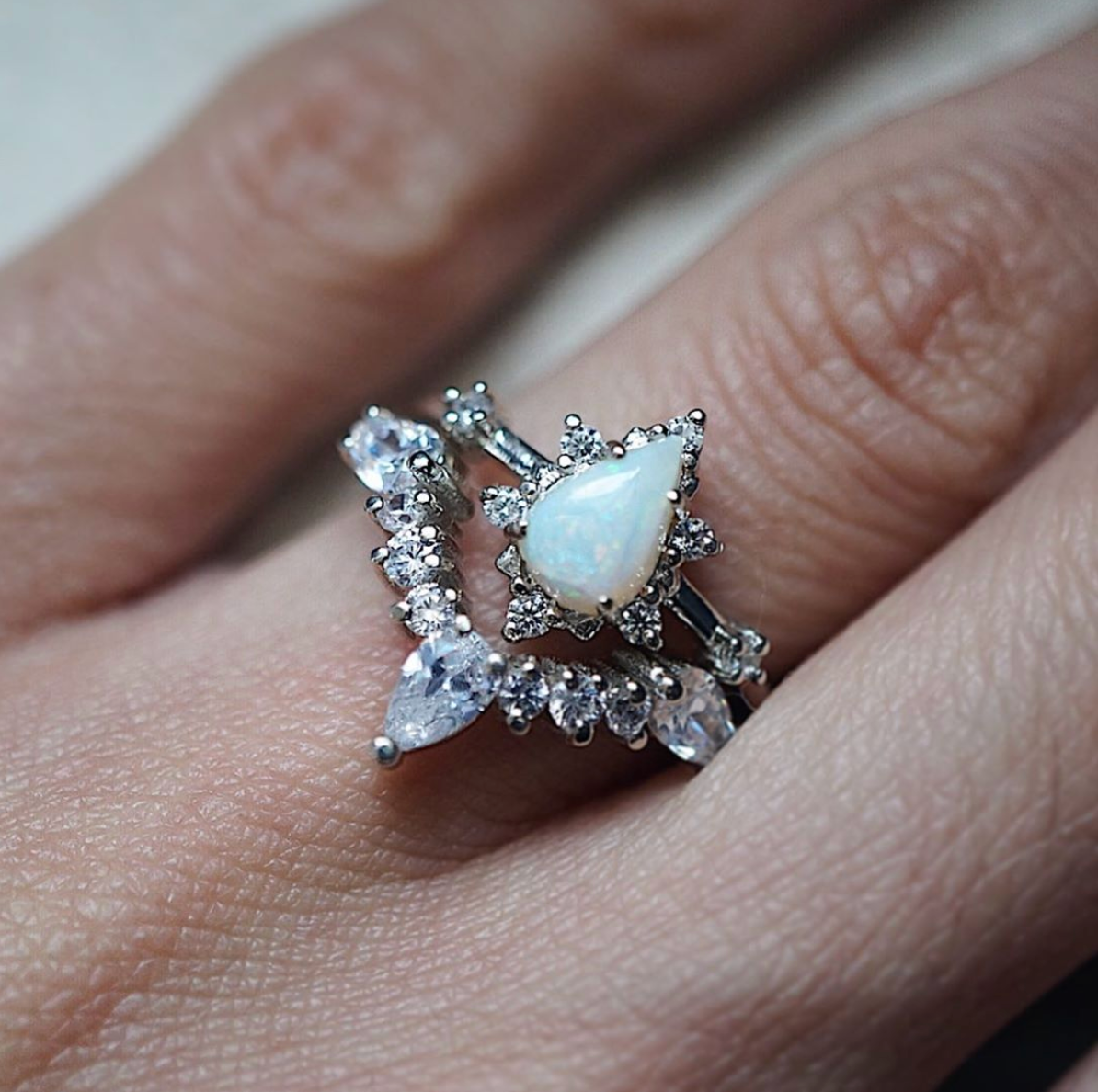 Majestic Opal Ring Set