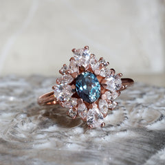 Duchess Alexandrite Diamond Ring