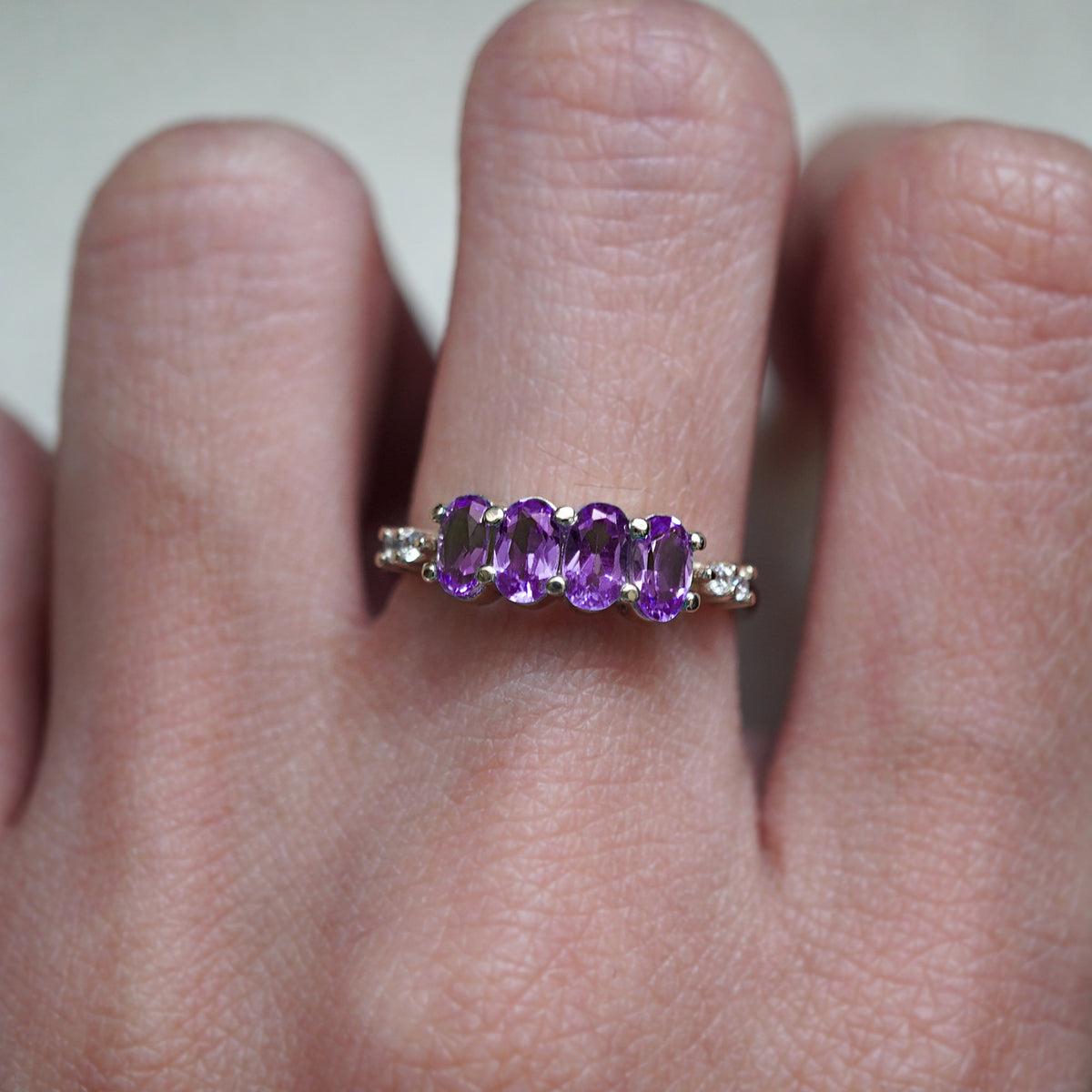 February Amethyst Ring - Tippy Taste Jewelry