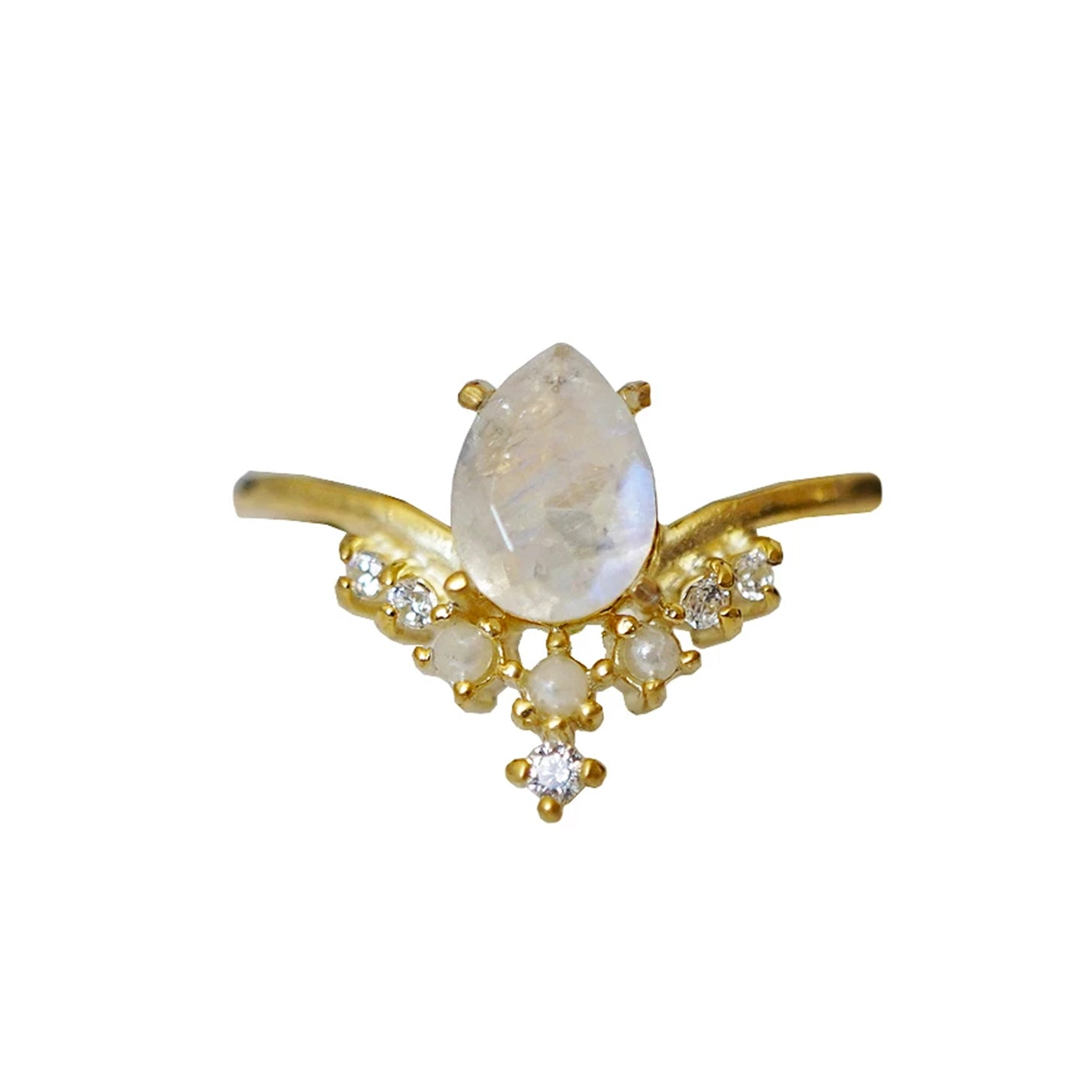 Celestial Moonstone Pearl Ring