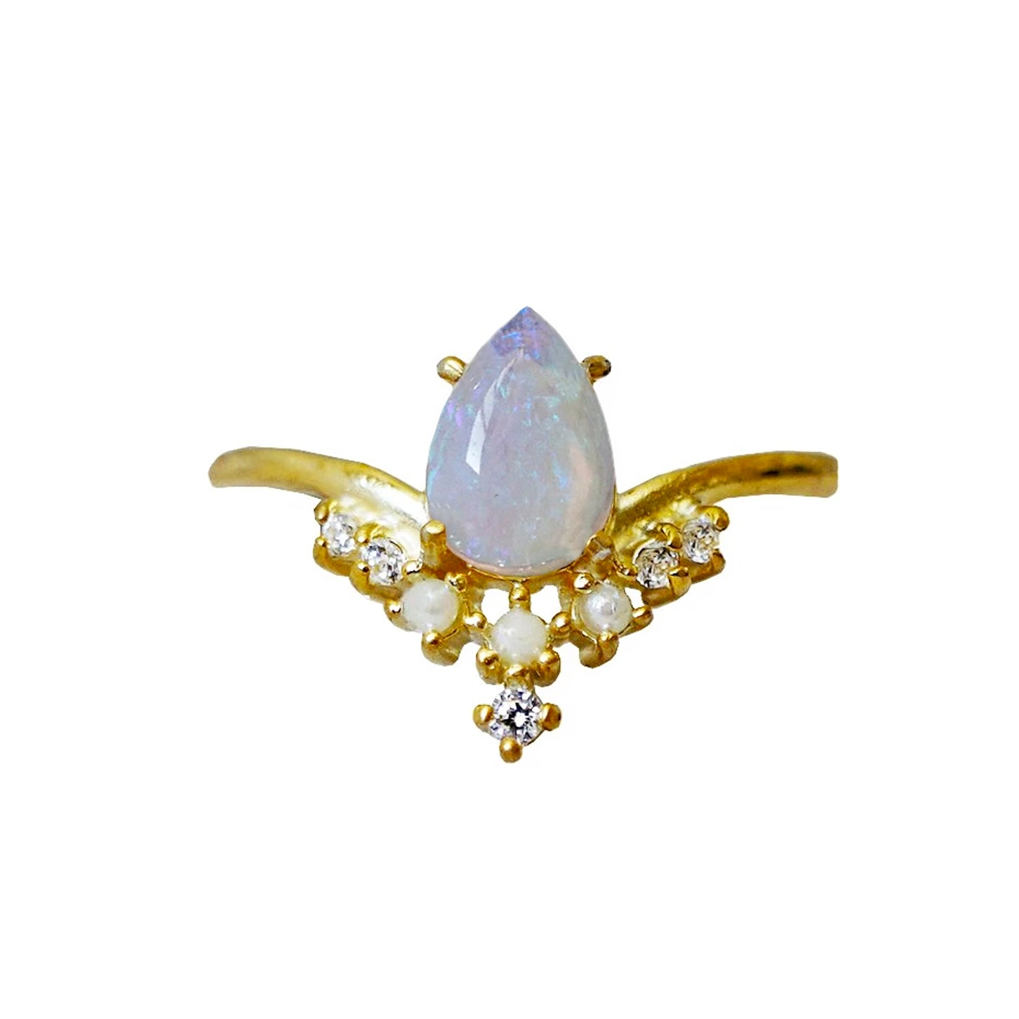 Celestial Opal Pearl Ring