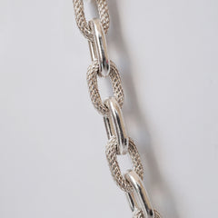 Oval Cobra Chain Necklace, 7.5mm