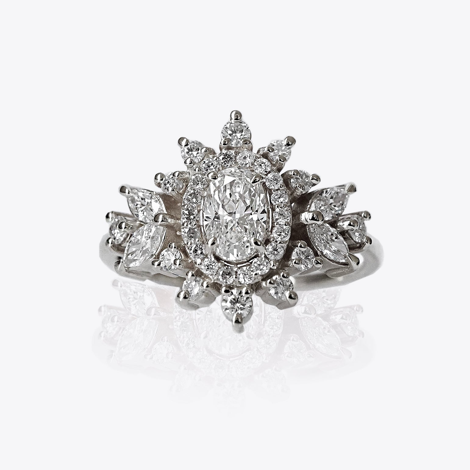 Coco Oval Diamond Ring, 0.43ct