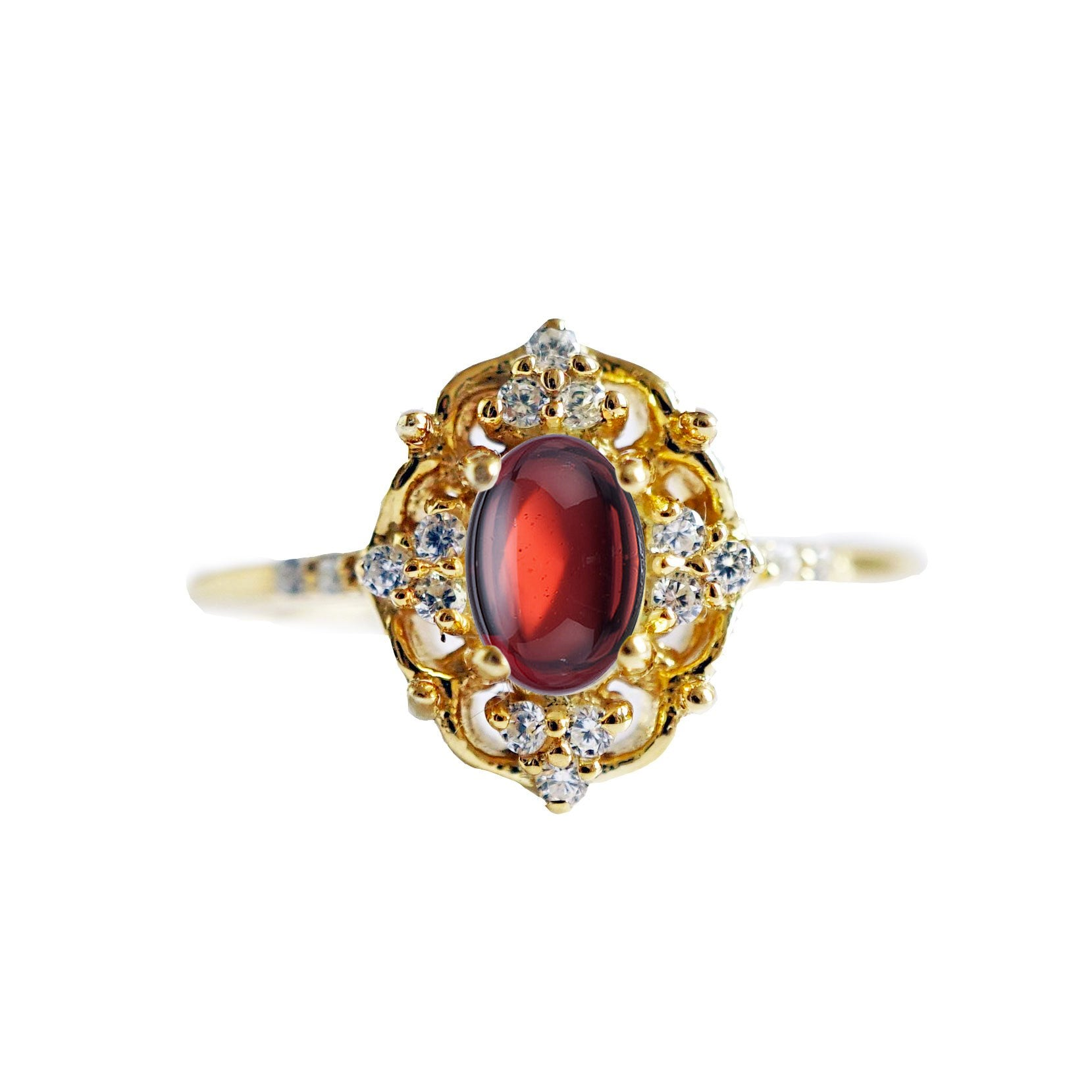 Cosmic Garnet Ring - Tippy Taste Jewelry