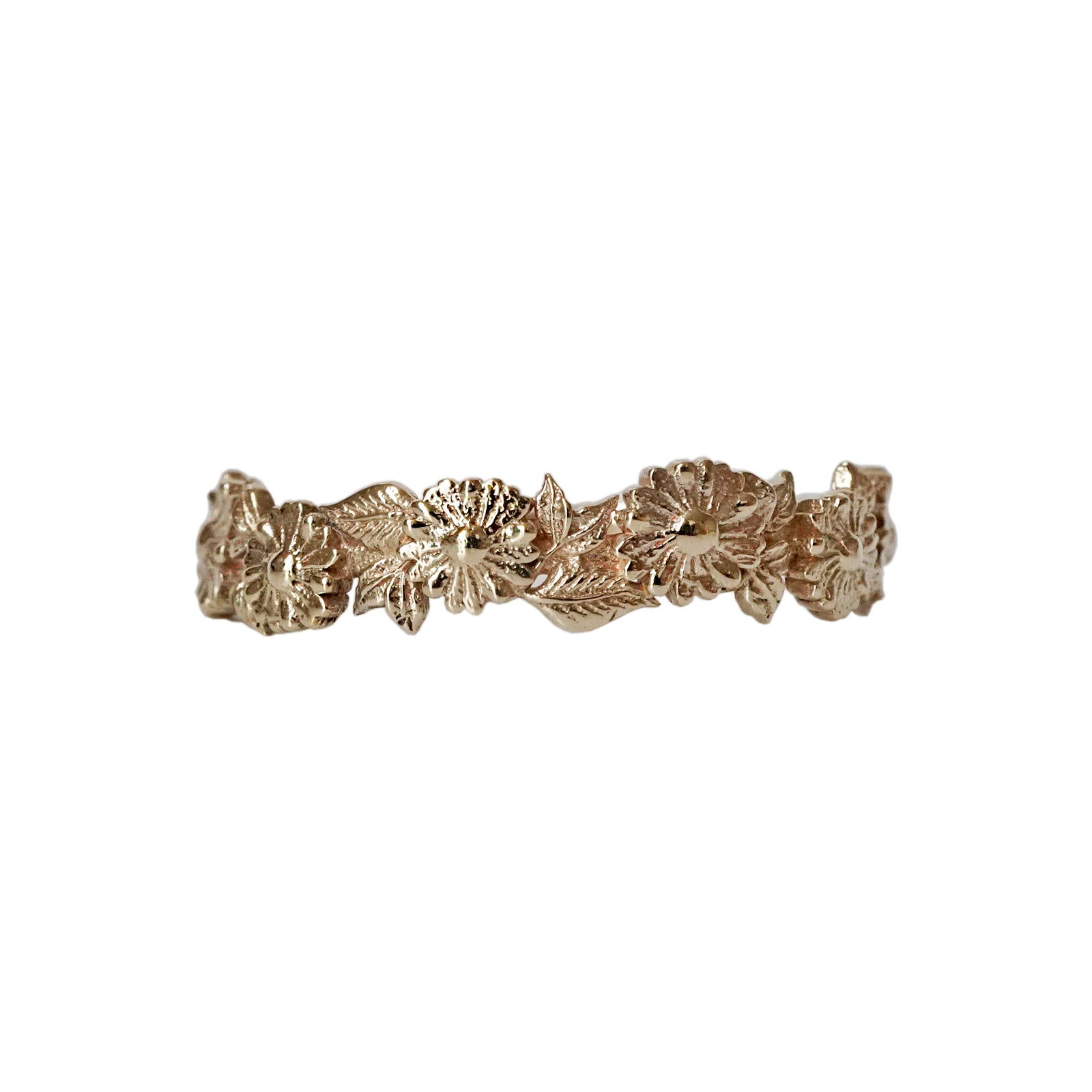 14K Daisies Ring Band
