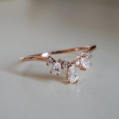 14K Dew Drop Pear Ring
