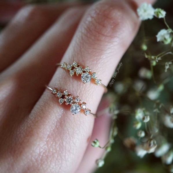 BEST SELLER** 14K Snow Queen Dainty Ring - Tippy Taste Jewelry