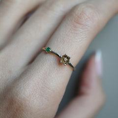 14K May Lily Birth Flower Ring