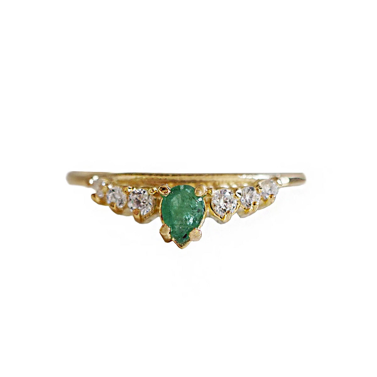 14K Emerald Empress Ring